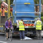 City council crews on Castle Avenue providing an alternative supply of water to residence from those areas. (Photo: Sasko Lazarov/Photocall Ireland)