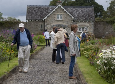 Visitors on a tour of Loughton House and Gardens, the County Offaly home of Minister for Health, Dr James Reilly