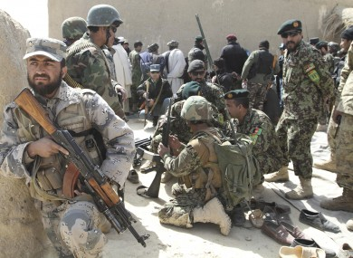File photo - Afghan security forces