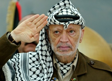 Yasser Arafat, pictured in 2004.