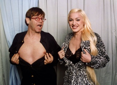Elton and Madonna in happier times (namely, 1995)