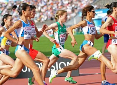 Ireland's Fionnuala Britton finishes fourth in the 10,000m final.