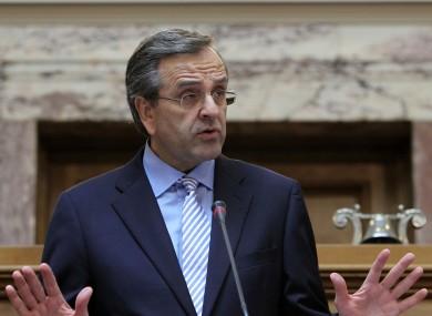 File photo of Greece's Prime Minister Antonis Samaras