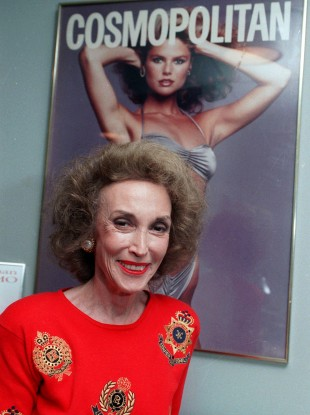 Helen Gurley Brown pictured in her New York office in 1990