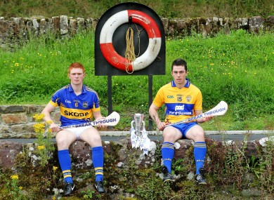 Tipperary's Jason Forde and Conor McGrath of Clare at yesterday's photocall ahead of the Bord Gais Energy Munster GAA Hurling Under 21 Championship Final.