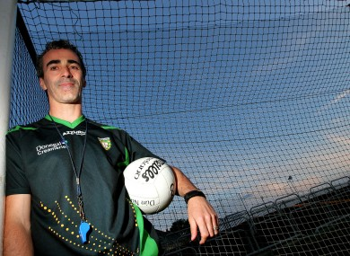 Donegal manager Jim McGuinness in MacCumhaill Park in Ballybofey last week.