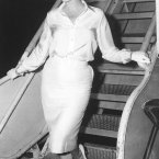 Leaving New York by air for Hollywood on 7 July 1958, to start work on the film Some Like It Hot. (AP Photo, File)