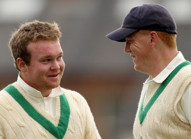 Paul Stirling, left, and Kevin O'Brien have both been nominated for the ICC Award.