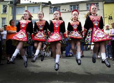 File photo of dancers at the 2002 Puck Fair