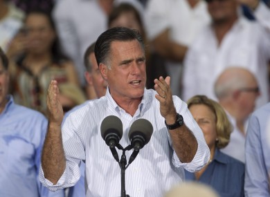 Mitt Romney on the campaign trail
