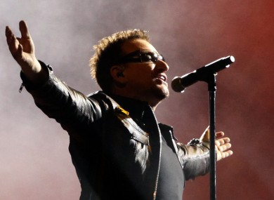 Bono performing in Mexico last year.