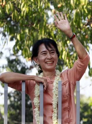 Burmese democracy campaigner Aung San Suu Kyi.
