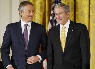 George W Bush and Tony Blair in Washington, 2009
