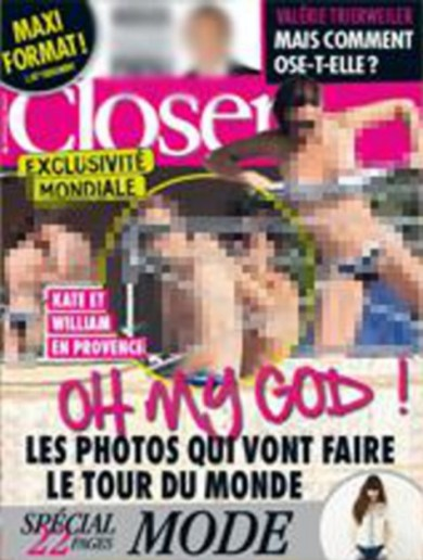 Royals 'considering legal options' over topless Kate pictures in French magazine