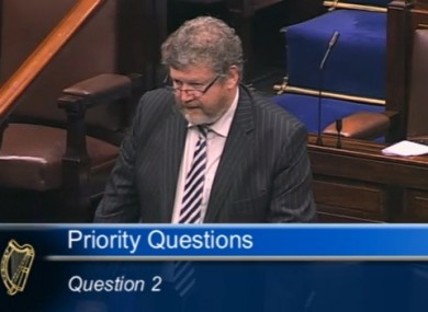 James Reilly in the Dáil tonight