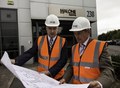 Minister Richard Bruton at Malone Engineering in Blanchardstown