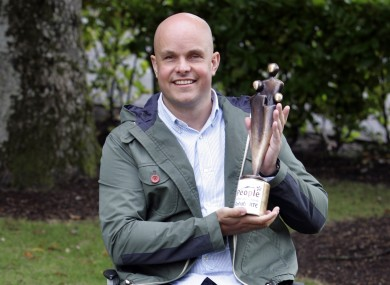 Mark with his People of the Year Award for 2012.