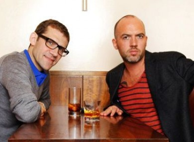 Dylan McGrath (right), seen her with Masterchef Ireland co-judge Nick Munier, opened Rustic Stone two years ago.