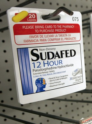 Sudafed is perhaps the best-known over-the-counter drug which includes pse