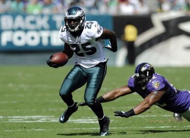 Philadelphia Eagles' LeSean McCoy in action on Sunday.