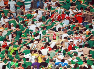 Ireland fans at Euro 2012 in Poland.