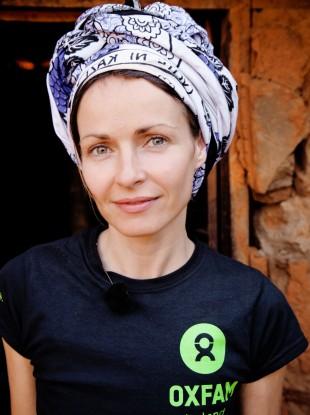 Sharon Corr in Tanzania.