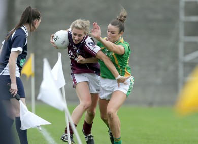 Galway's Sinead Burke with Louise Galvin of Kerry.