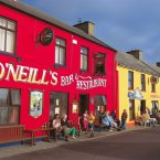 Brightly-painted shop and pub fronts in the West Cork village of Allihies. Image: Holger Leue/Tourism Ireland.