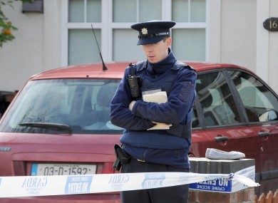 Gardai at the scene of a fatal stabbing on Allendale Glen, Clonsilla