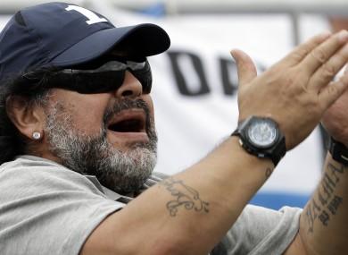 Shock: Diego Maradona.