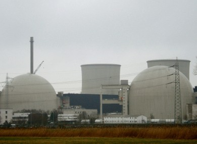 A file photo of the Biblis nuclear power plant in Hesse, Germany. The government is increasing a surcharge on electricity bills to fund development of sustainable sources.