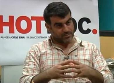 Costas Vaxevanis, editor of Hot Doc.