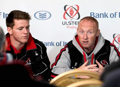 Neil Doak (right) at an Ulster briefing with Craig Gilroy.