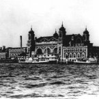 The main registry building on Ellis Island is shown in this 1905 photo.