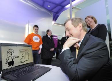 Taoiseach Enda Kenny visiting the Digital Hub in May of this year.