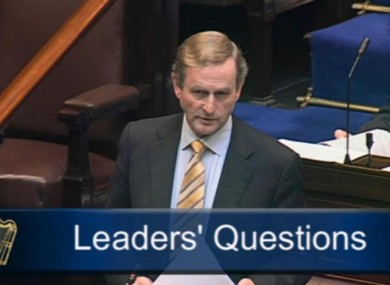 Enda Kenny in the Dáil this
