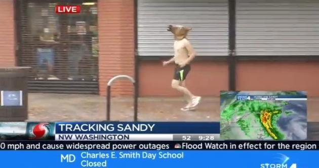 Best Hurricane Sandy videobomb so far