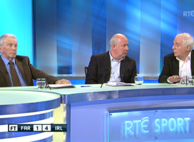 The RTÉ panel debate Trapattoni's future.