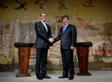 Guido Westerwelle with Ahmet Davutoglu last year.