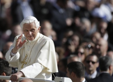 Benedict XVI in St Peter's Square yesterday - he gave the homily at this morning's Mass there.