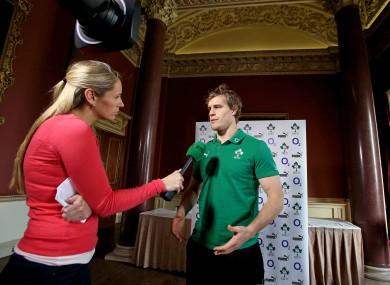 Ireland's Andrew Trimble speaking to RTE's Evanne Ni Chuilinn.