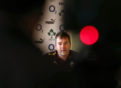 Ireland assistant coach Anthony Foley at Carton House today.