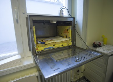 The 'baby hatch' at Waldfriede hospital in Berlin.