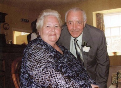 Bertie Acheson, right, with his wife Sheila.