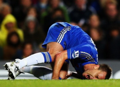 John Terry shows his discomfort after the clash with Suarez last week.