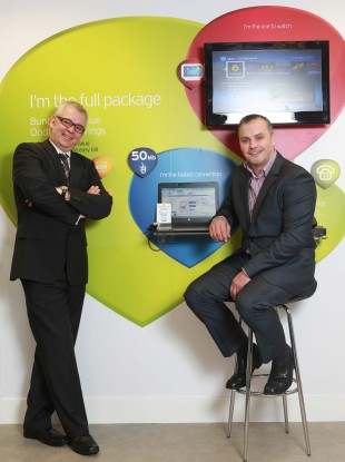 Bruce Bullock, Head of Sales for UPC and James Addie, Strategic Partnerships Director for Carphone Warehouse Ireland.