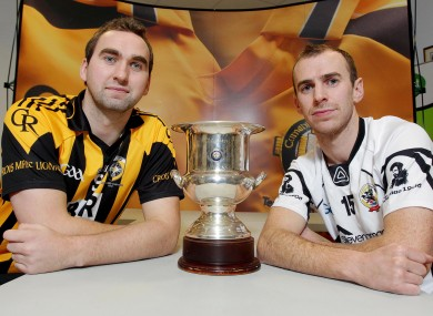 Crossmaglen captain David McKenna and Kilcoo captain Gary McEvoy ahead of Sunday's AIB Ulster Club Senior Football Championship Final.