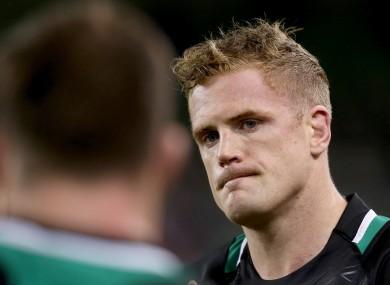 Ireland's Jamie Heaslip dejected at the final whistle.