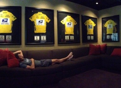 Armstrong tweeted this picture from Austin over the weekend.