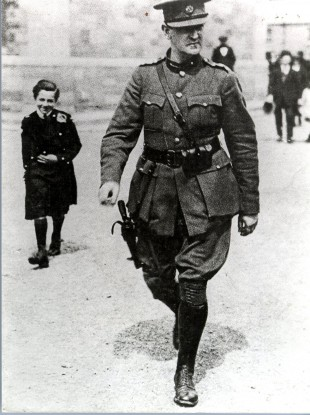 General Michael Collins at Portabello barracks, Dublin in August 1922